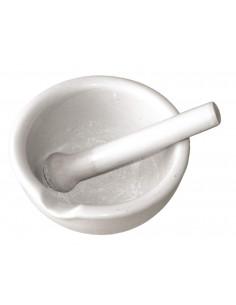 Mortier porcelaine + pillon 13cm diam.
