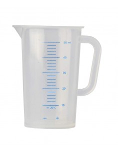 Cruche de mesure polypropylène gradue 50 ml