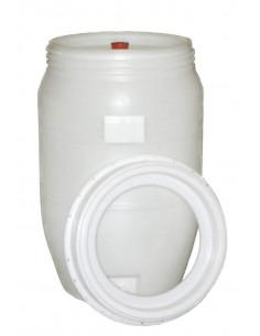 Tonneau plast.rond +robinet+barbot. 120l