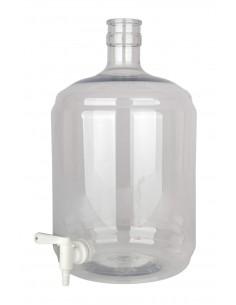 Dame-jeanne PET 12 litres avec robinet 5/16-7/16