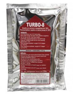 Levure TURBO-8 alcoferm pour 25 l