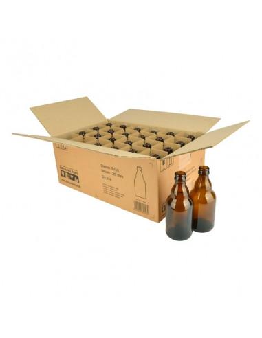 Bouteille de bière Steinie 33 cl, brun, 26 mm, boîte 24 pcs