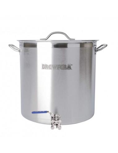 Cuve De Brassage Inox 70 L Avec Robinet A Boisseau Spherique 45 X