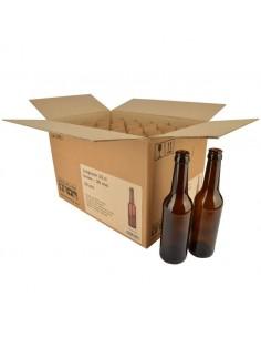 Bouteille de bière Longneck 33 cl, brun, 26 mm, boîte 24 pcs