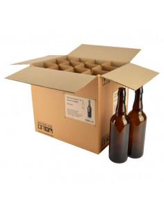 Bouteille bouchon mécanique 75 cl, brun, sans BM, COMBI, boîte 12 pcs