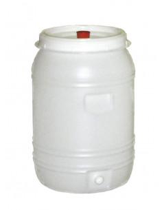 Tonneau PET rond +robinet+barbot 60l