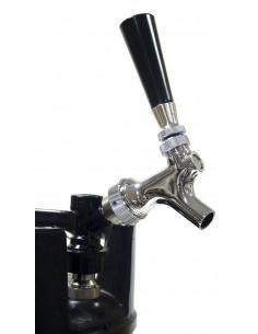 robinet bière chrome + adaptateur pour fut-soda