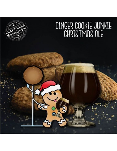 Kit de malt Ginger Cookie Junkie Christmas - 25 L