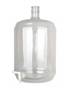 Dame-jeanne PET 23 litres avec robinet