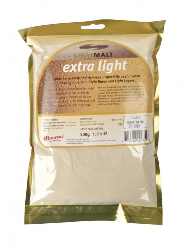 Extrait de malt poudre Muntons blond 7-12 EBC 500 g