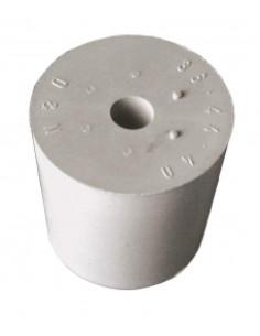 Bouchon caoutch. gris D55/47 + trou 9mm