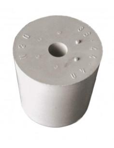 bouchon caoutch. blanc D32/26 + trou 9mm