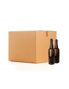 Bouteille 75cl brun, sans BM, boîte 33 pcs COMBI