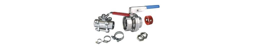 Accessoires pour cuves inox ,Robinets, raccords ects ...